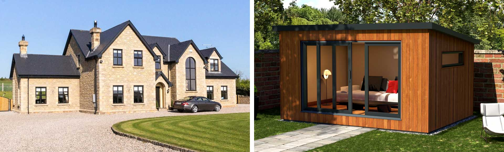 Redwood Timber Frame House and Garden Rooms Northern Ireland
